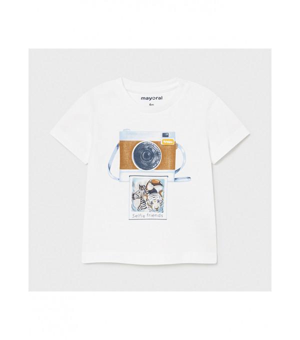 Tricou PLAY WITH imprimeu holografic bebe baiat 1003 MY-BL76X