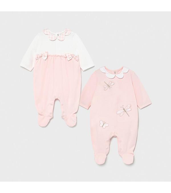 Set 2 pijamale lungi new born fata1605 MAYORAL MY-PIJA05X