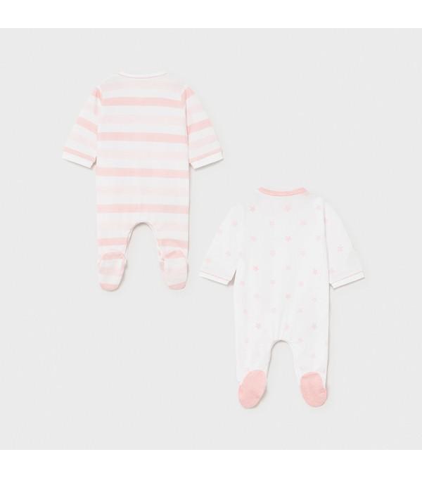 Set 2 pijamale roz nou-nascut 01625 MY-SET15X