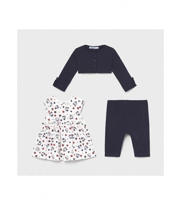 Set leggings rochie cardigan bebe fetita 1715 MY-SET38X