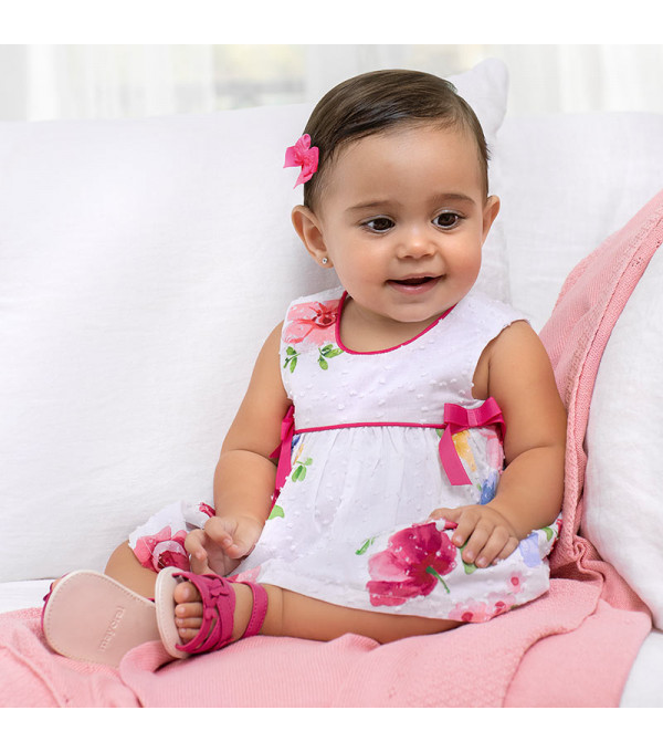Rochie flori si fundite roz  new born fata 1835 MAYORAL MY-R17X