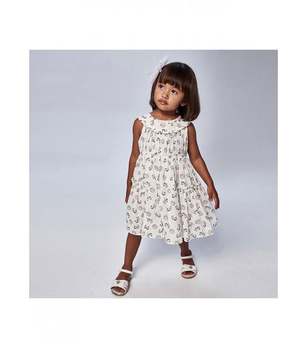 Rochie voile imprimeu fetita 3943 MY-R118X