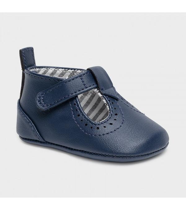 Pantofi  piele ecologica nou-nascut baiat 9392 MY-PANTF08X