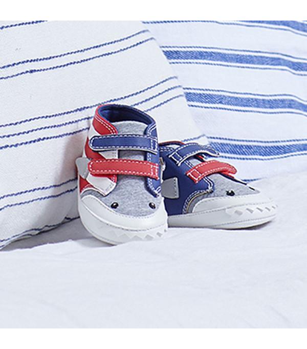 Pantofi sport bicolori nou-nascut baiat 9398 MY-TEN04X
