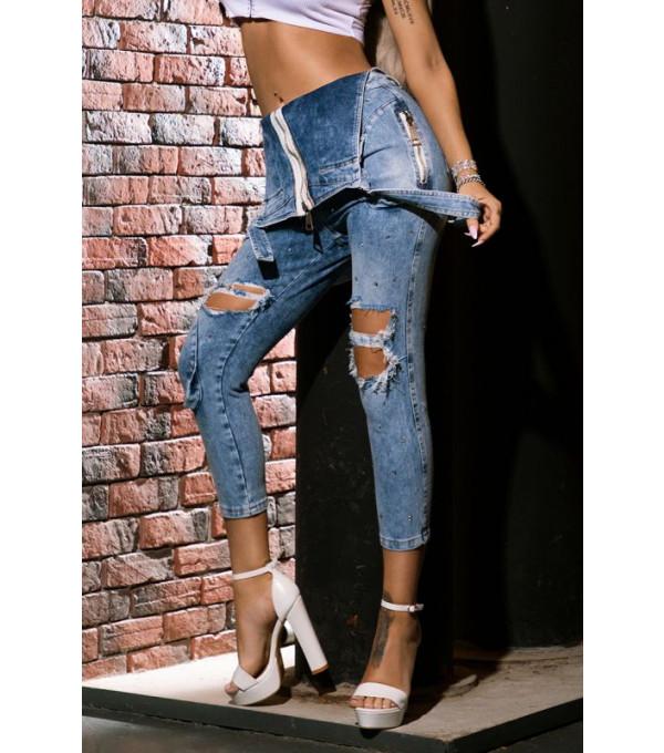 Salopeta jeans cu bretele Mexton MEXSL8548X