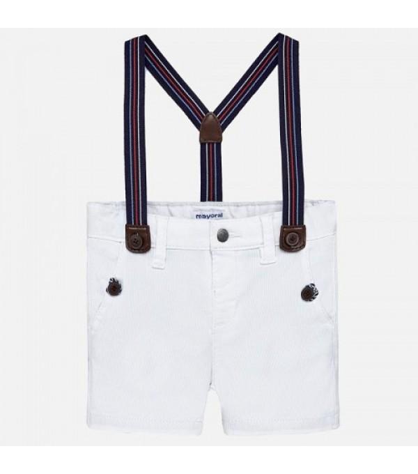 Pantaloni scurti albi baieti Mayoral MY-PS05K