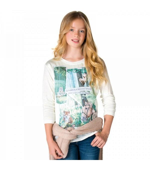 Bluza fata cu imprimeu cal Mayoral My-bl50c