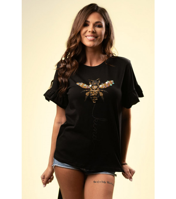 Tricou dama negru IT-BL15X