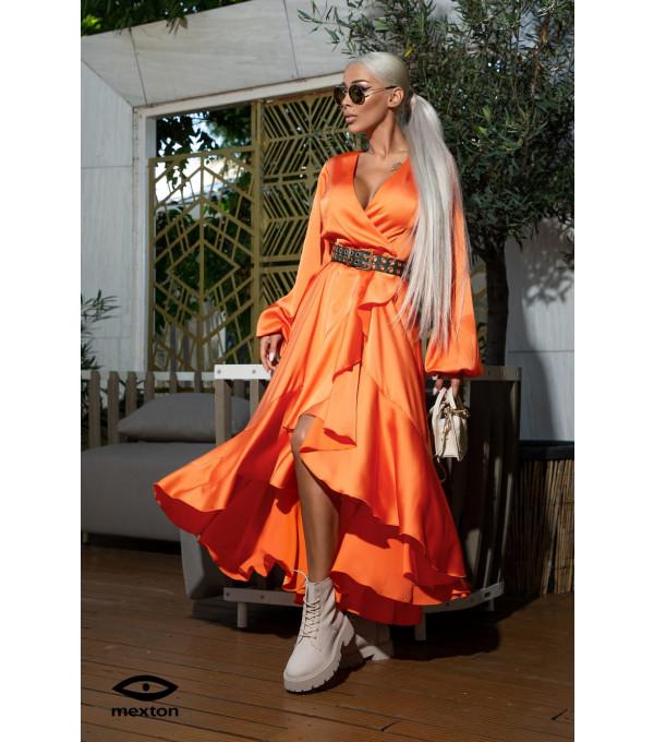 Rochie lunga orange Mexrton MEXR8793Y