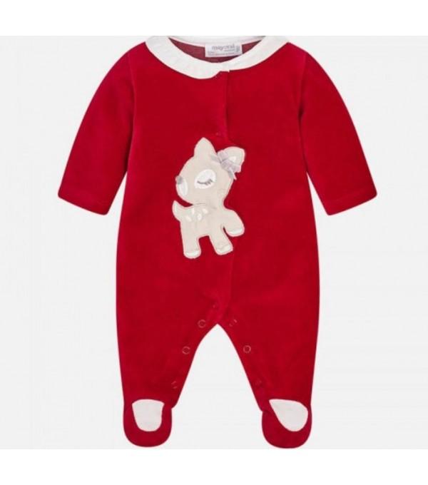 Pijama catifea rosie Mayoral My-pija04a