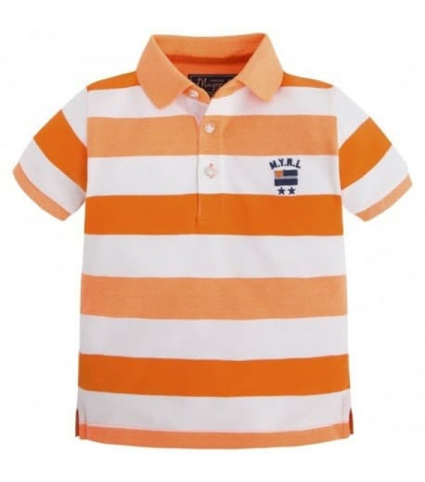 Tricou cu dungi portocali Mayoral MY-BL437a