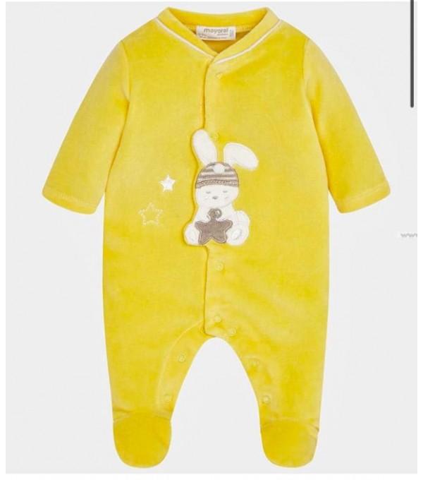 Pijama catifea galben Mayoral My-pija12a
