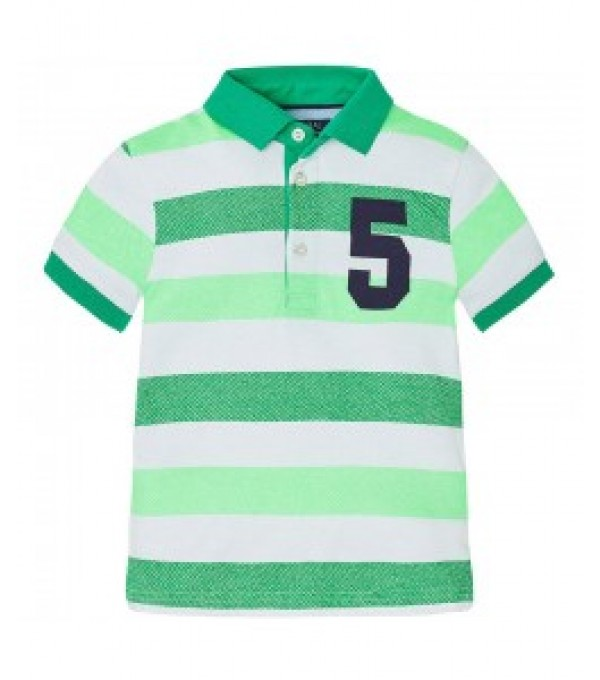 Tricou dungi verde polo Mayoral MY-BL429A