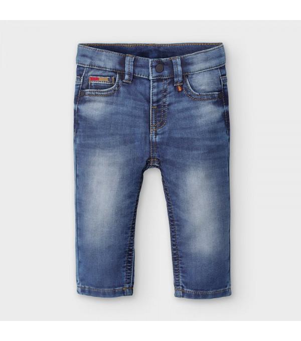 Pantaloni lungi blug albastri bebe baiat 2584 MY-BG106Y