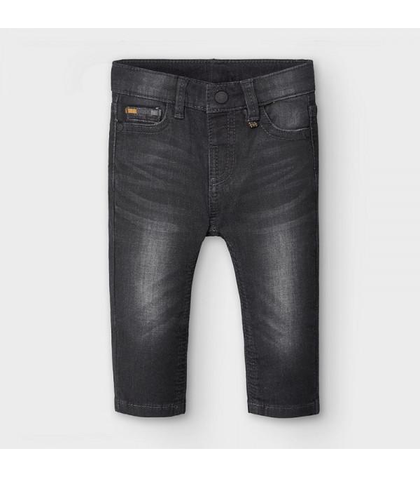 Pantaloni lungi blug negru bebe baiat 2584 MY-BG106Y