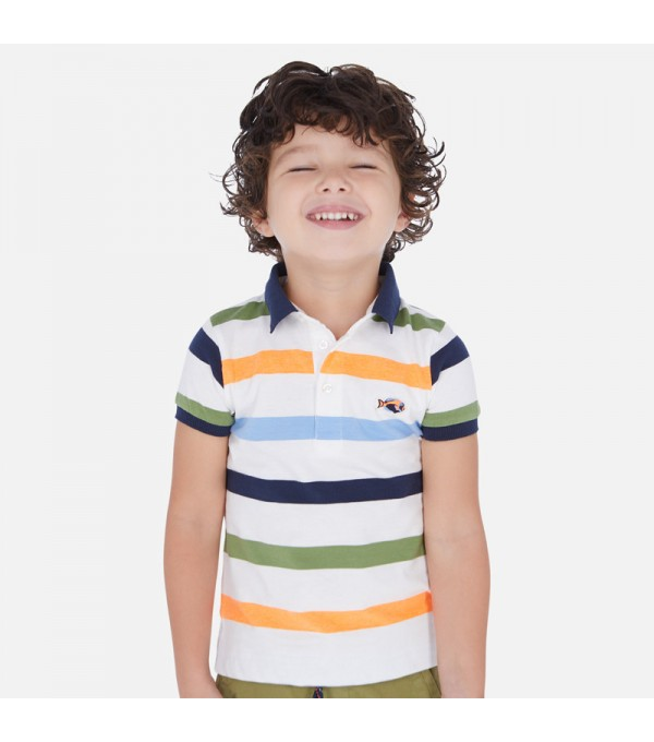 Tricou polo dungi Mayoral MY-BL40P