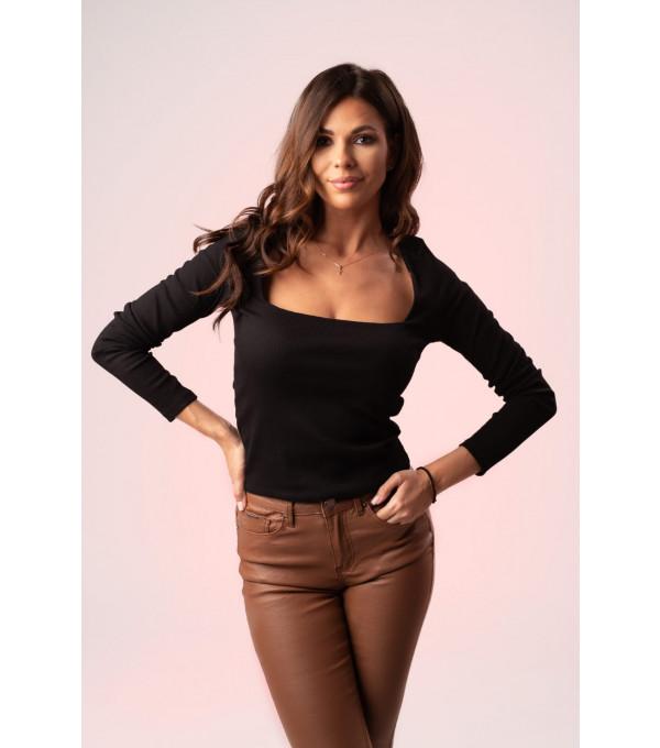 Bluza neagra patrat la anchior dama IT-BL05x