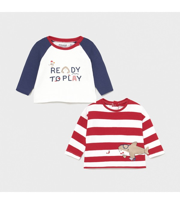 Set 2 bluze rosu-albastru  MAYORAL My-bl01x
