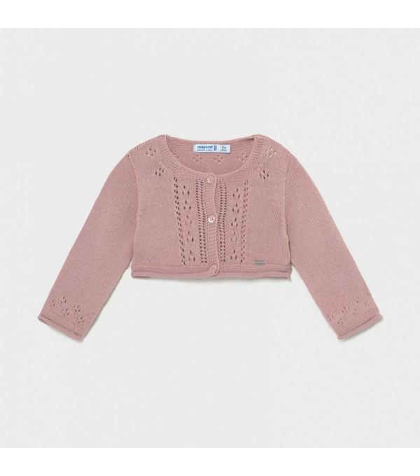 Bolero roz-pal tricot fetita Mayoral My-bo03x