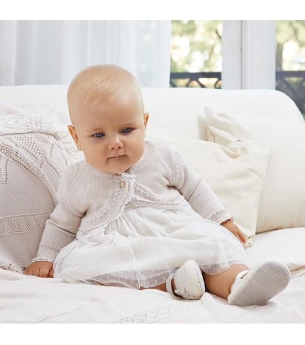 Bolero bej tricot fetita Mayoral My-bo02x