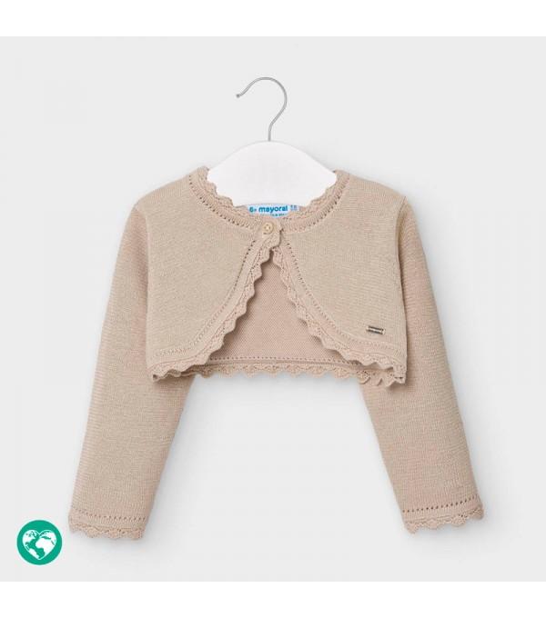 Bolero bej tricot basic bebe fetita 00308 MY-BO101Y