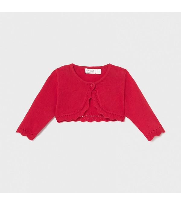 Bolero rosu tricot fetita Mayoral My-bo01x