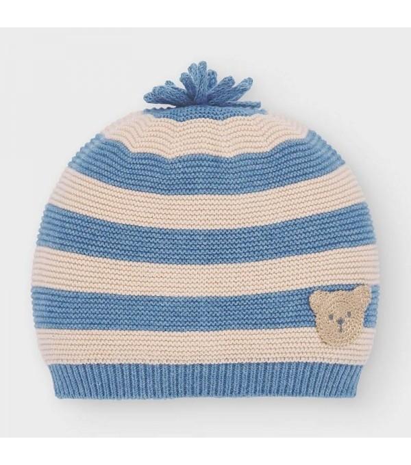 Caciula tricot albastru-crem baiat MAYORAL 9320 MY-CACIULA02V