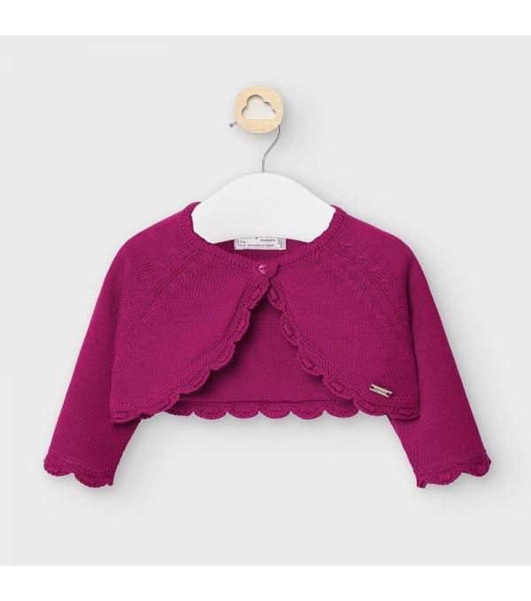 Cardigan mov scurt tricot new born fata 00307 MY-BO102Y