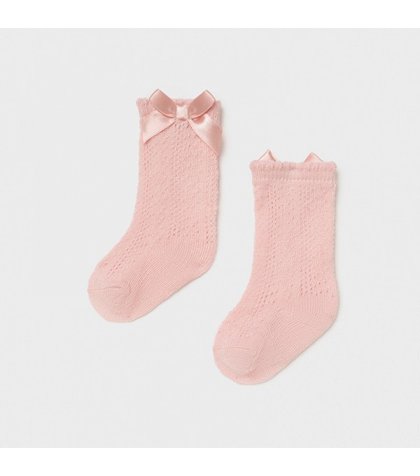 Sosete perforatii fundita roze new born fata Mayoral 09368 MY-SOS05X