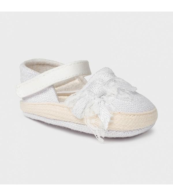 Pantofi new born fata albi Mayoral 09402 MY-EXPA01X
