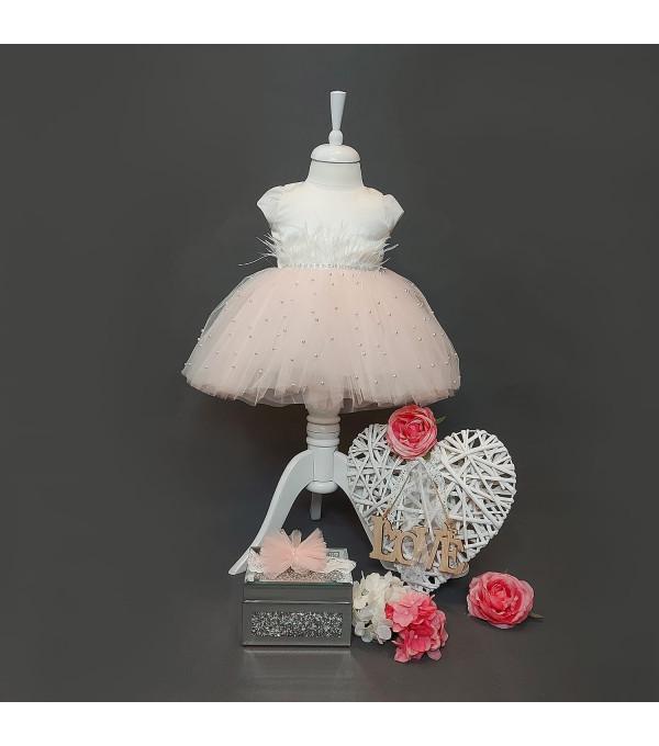 Rochie botez roz SP-R04X