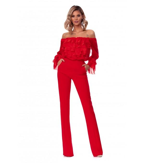Pantaloni rosi BBY-PL08P