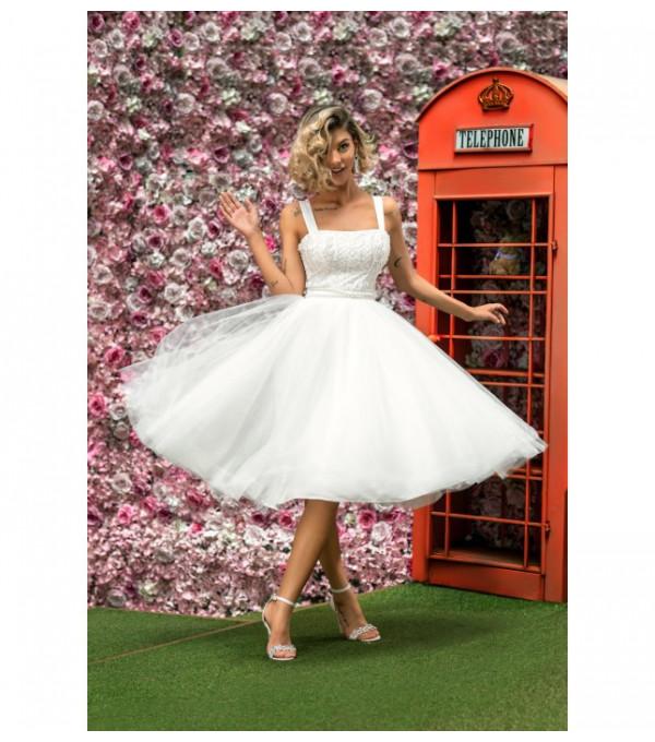 Rochie princess alba dama BBY-R86X