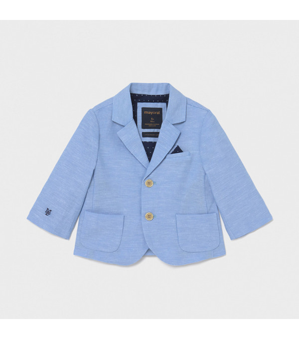 Jacheta in eleganta bebe baiat bleu 1402 MY-SC02X