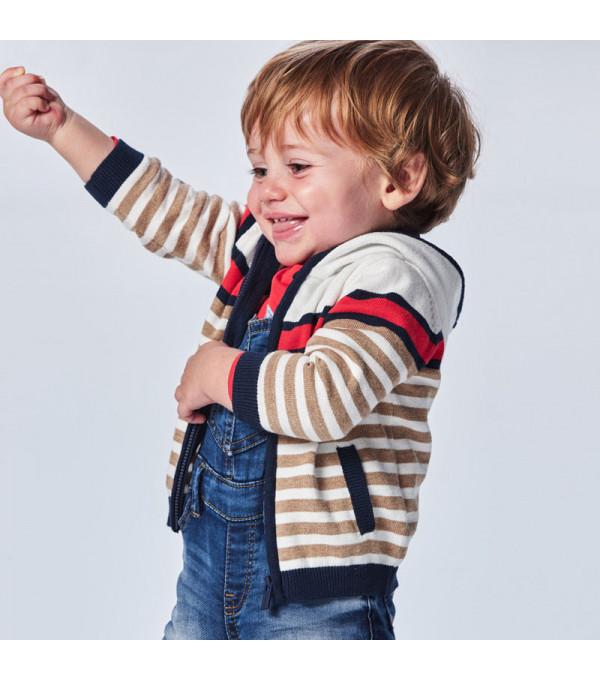 Jacheta tricot dungi bebe baiat 1344 MY-G13X