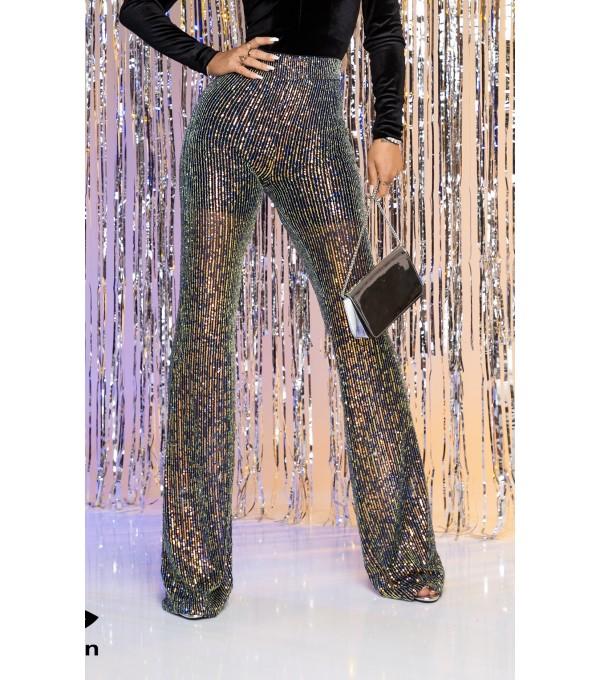 Pantaloni evazati color Mexton mexpl7849s