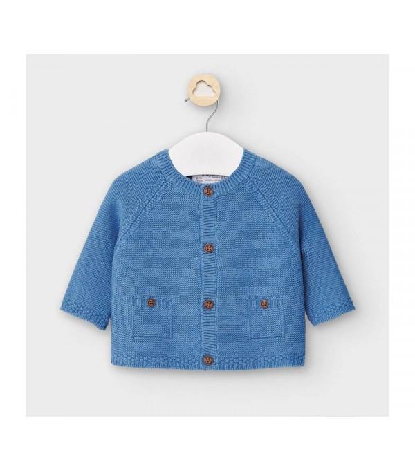 Cardigan tricotat nou-nascut baiat albastra 2334 MY-G02V
