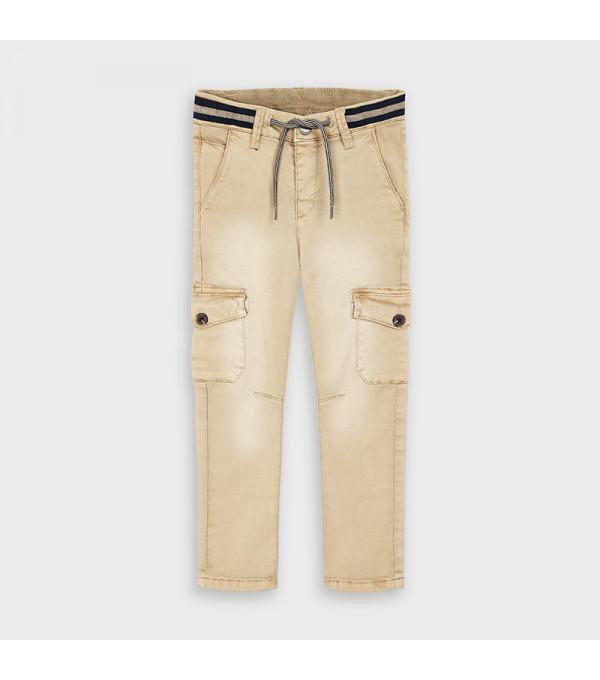 Pantaloni bej baiat Mayoral My-pl111y