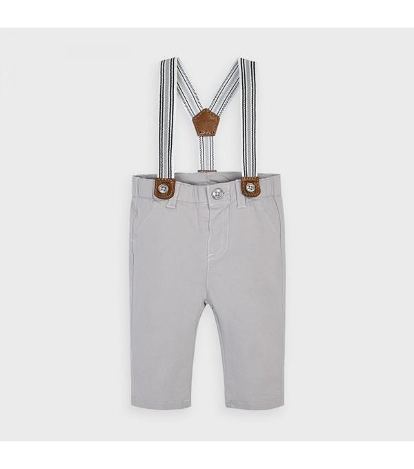 Pantaloni lungi cu bretele nou-nascut baiat 2565 MY-PL13V