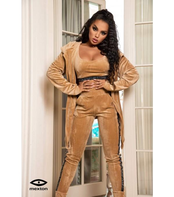 Pantaloni catifea bej Mexton MEXPL8383V