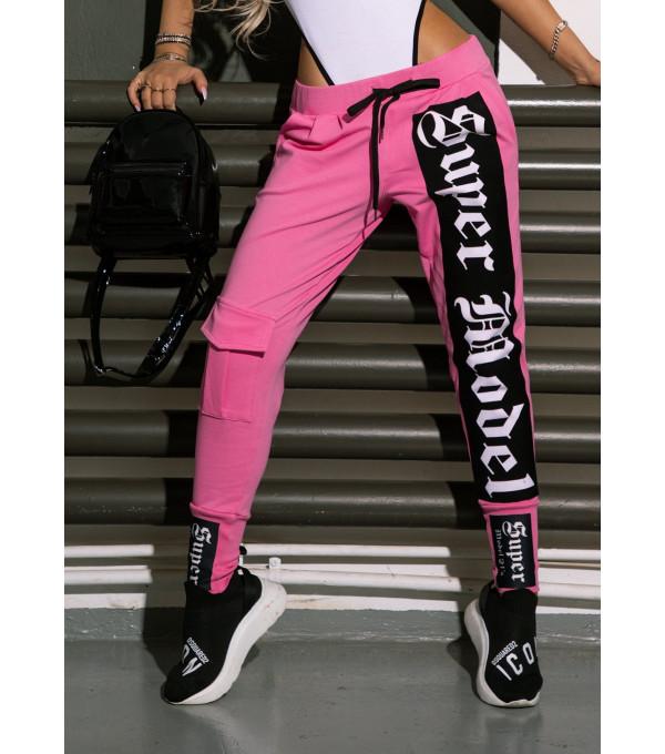 Pantaloni pink Mexton MEXPL8578X