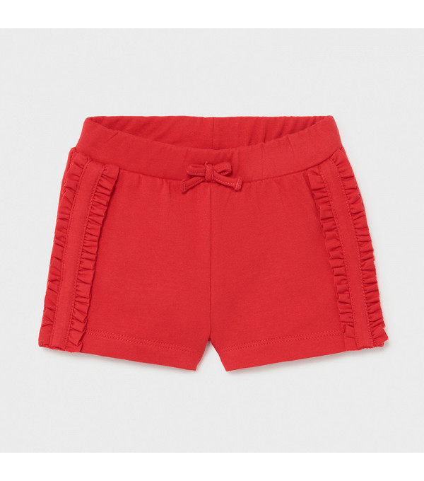Pantaloni scurti rosii bebe fetita 1227 MY-PS12X