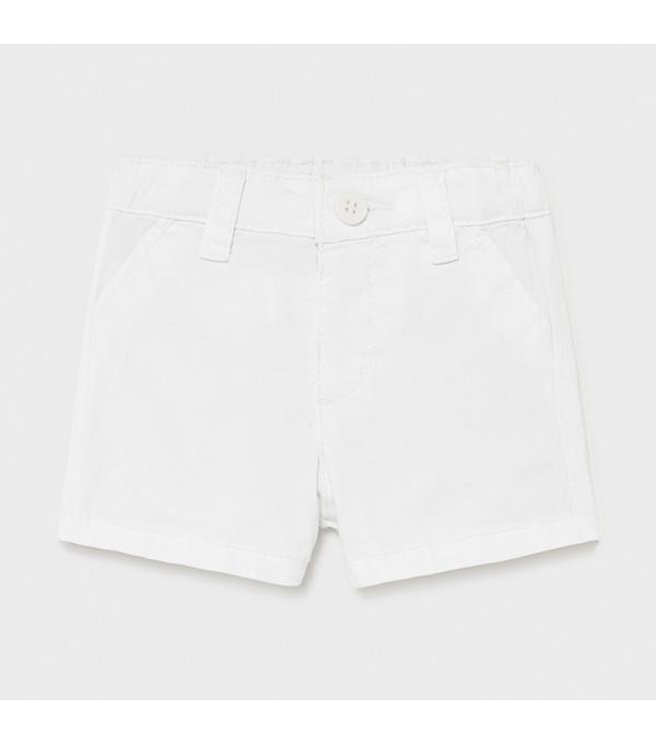 Pantaloni scurti albi bebe 201 MAYORAL MY-PS09X