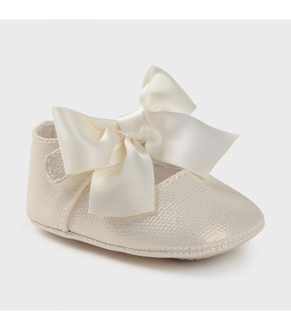 Pantofi ceremonie funda nude new born fata Mayoral 09404 MY-PANTF04X