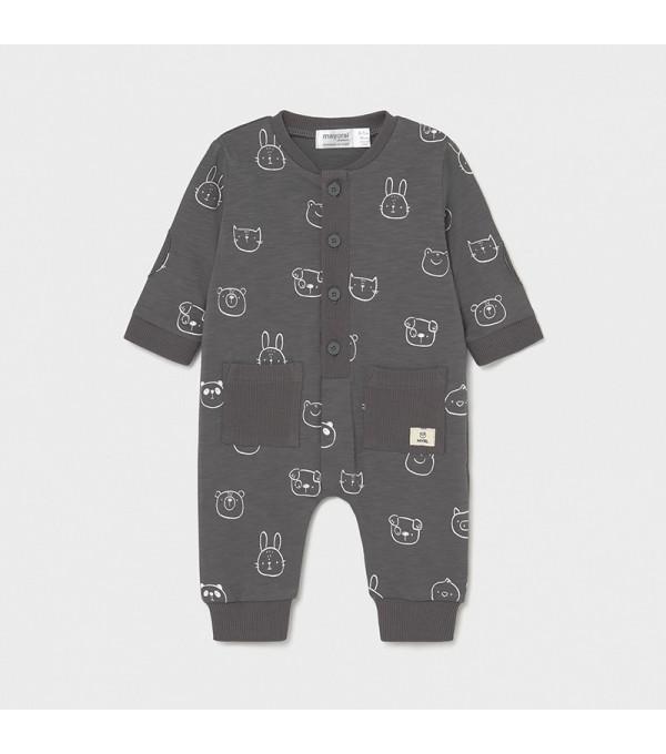 Pijama cu buzunarase nou-nascut baiat  1630 MY-PIJA11X