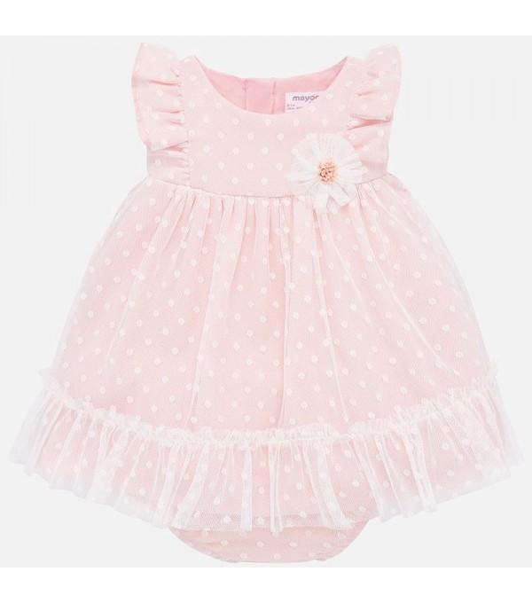 Rochie din tulle pentru copii nou-nascut Mayoral MY-R02P