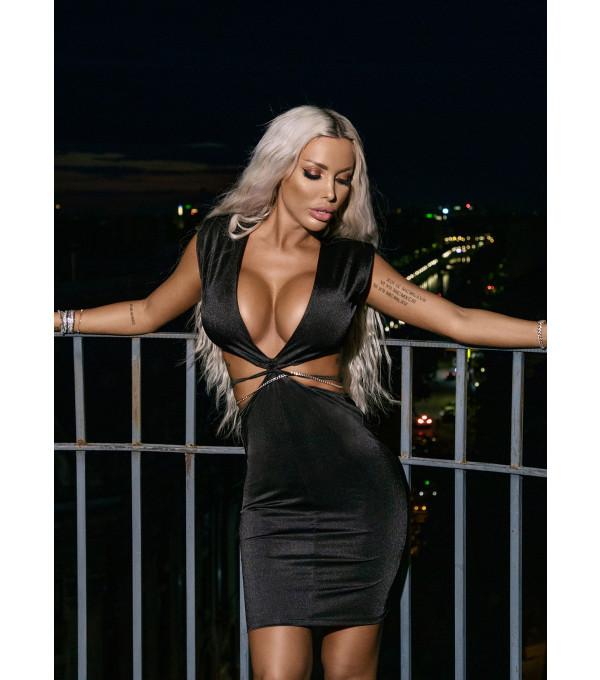 Rochie neagra eleganta Mexton MEXR8715X