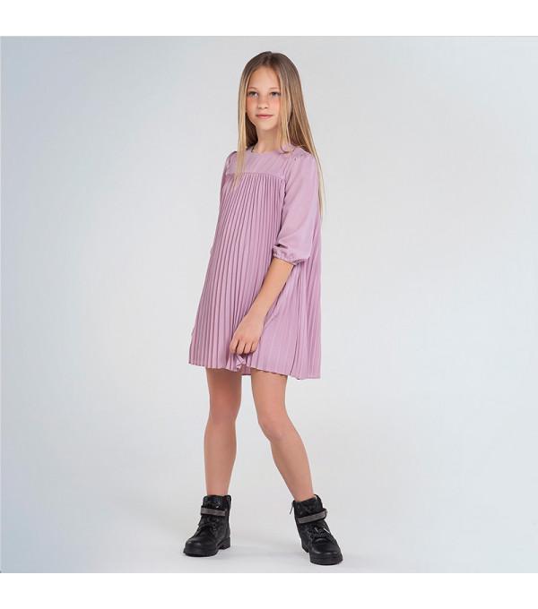 Rochie roz pliuri fata 7962 MY-R122Y