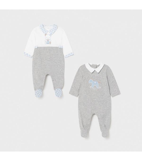 Set 2 pijamale lungi nou-nascut baiat 1626 MY-PIJA10X