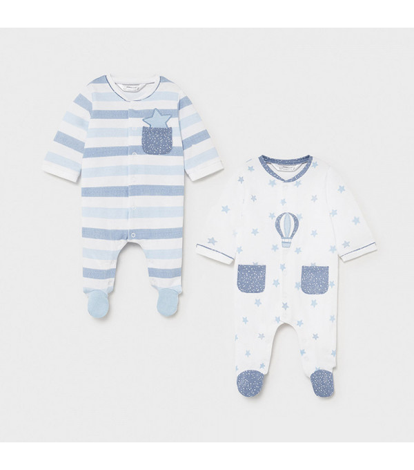 Set 2 pijamale nou-nascut blue 1625 MY-SET15X